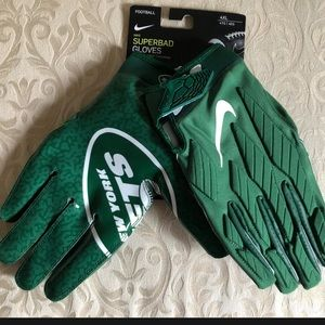 NIKE SUPERBAD 5.0 OFFICIAL NFL NYJ PADDED GLOVES